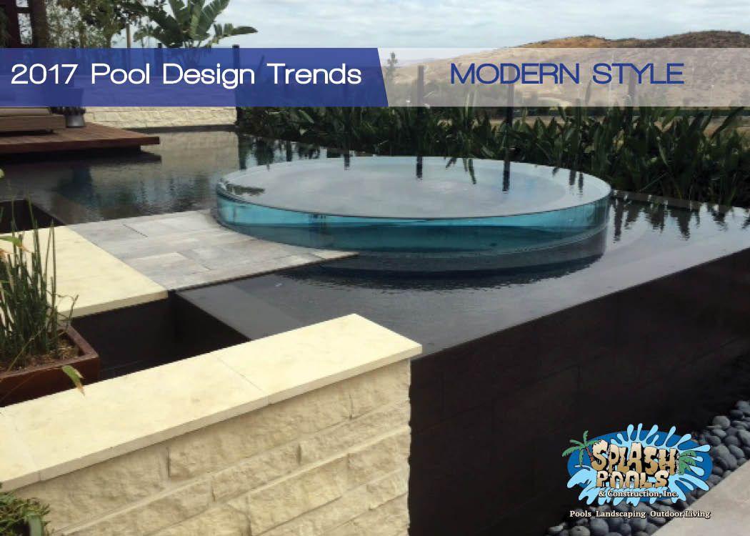 2017 Pool Design Trends, modern design, contemporary pool | Custom ...