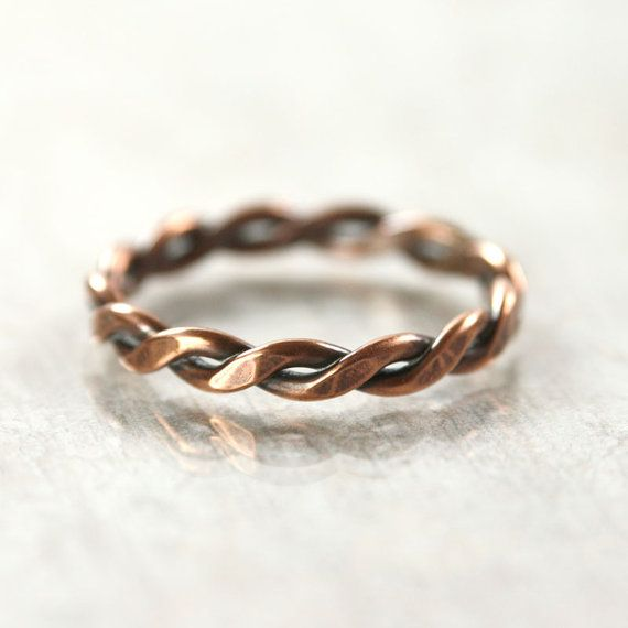 iron ring Twisted Ring Mens ring Hammered Ring unisex ring
