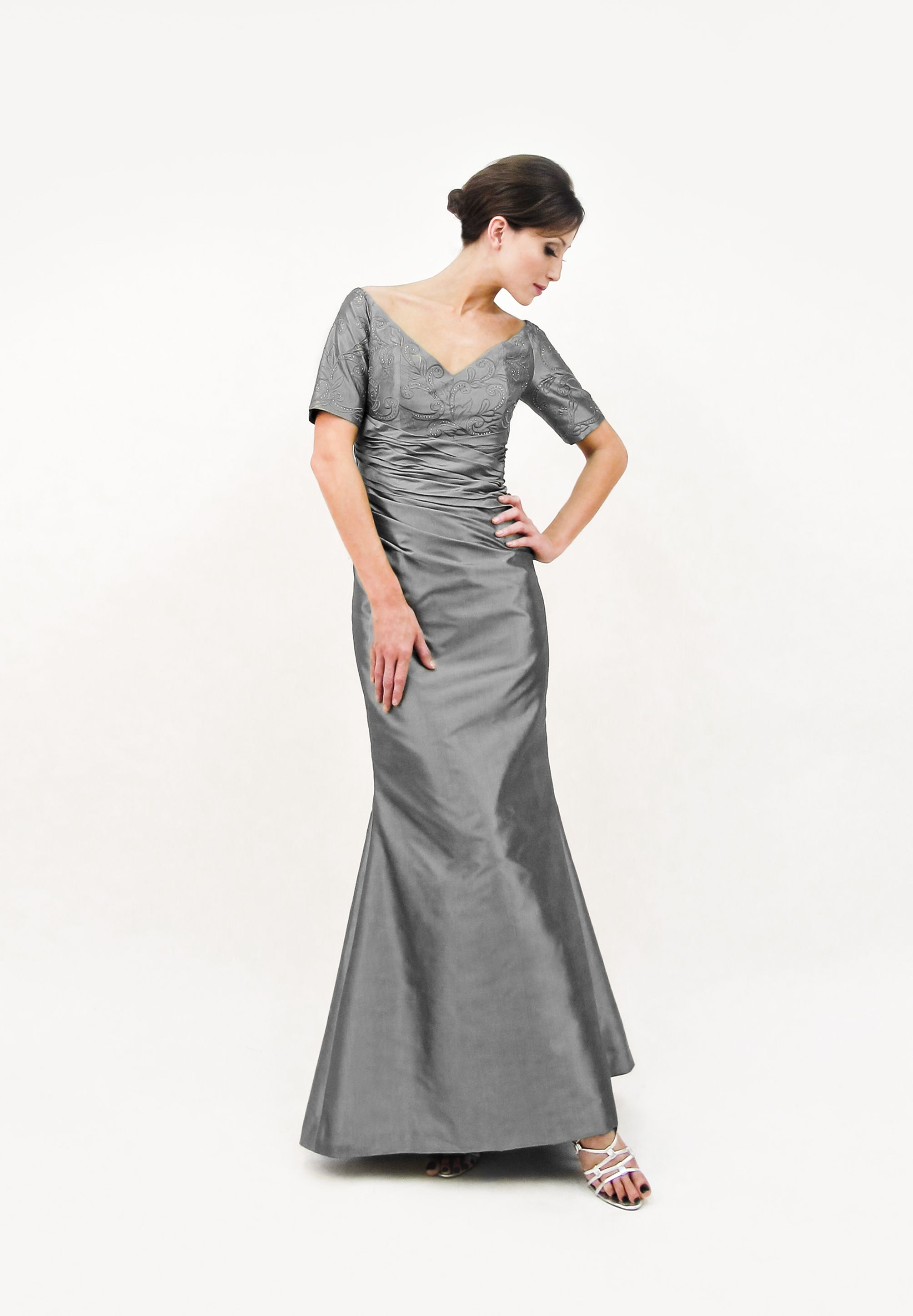 silk mother of the bride gowns