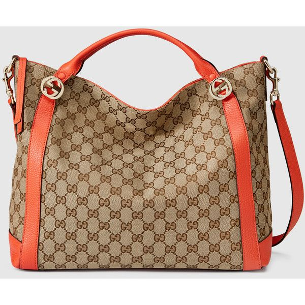 9604fc9b732ed Gucci Miss Gg Original Gg Canvas Top Handle Bag ( 780) ❤ liked on Polyvore  featuring bags