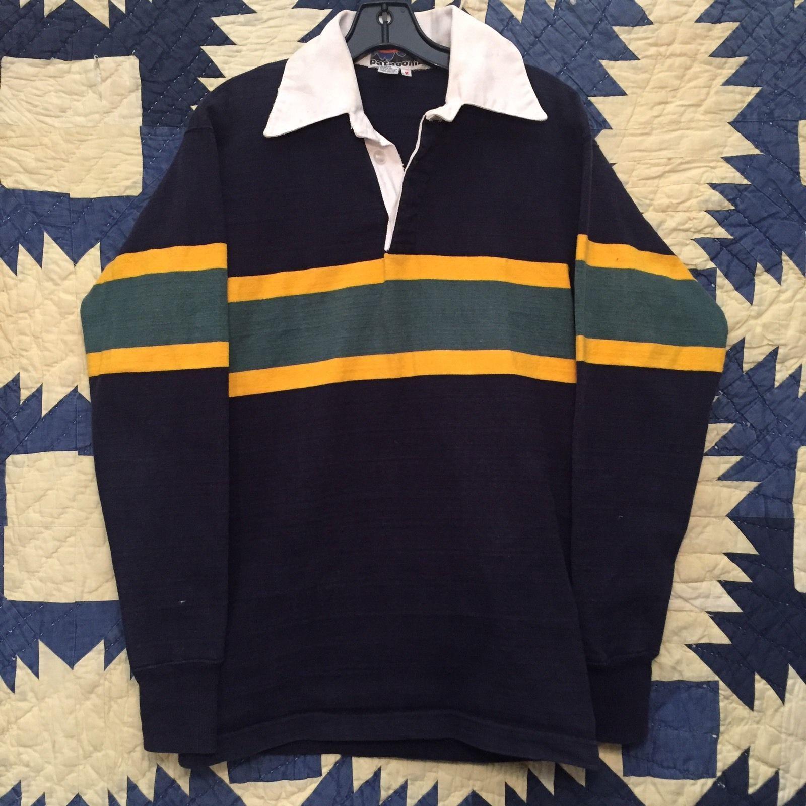 Rare Vintage 1970s Patagonia Rugby Climbing Shirt Mens Size Small Mens Shirts Weird Shirts Casual Tops