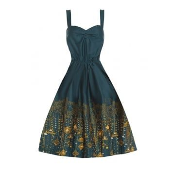 Bambi  City Lights Print Swing Dress from Lindy Bop Söpöt Mekot 4e4dd9ee7e