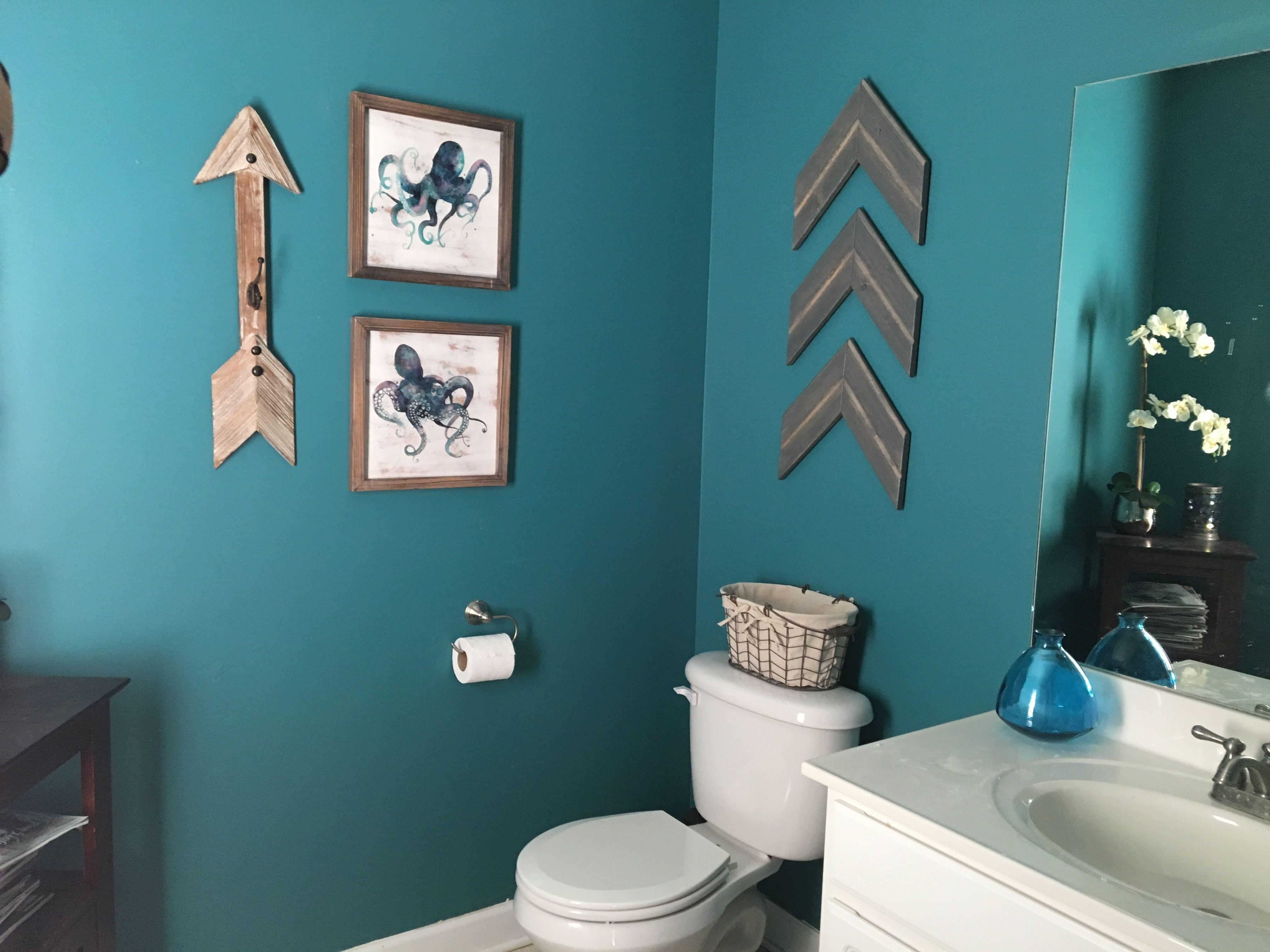 Teal Bathroom Rustic Arrows Teal Bathroom Blue Bathroom Decor
