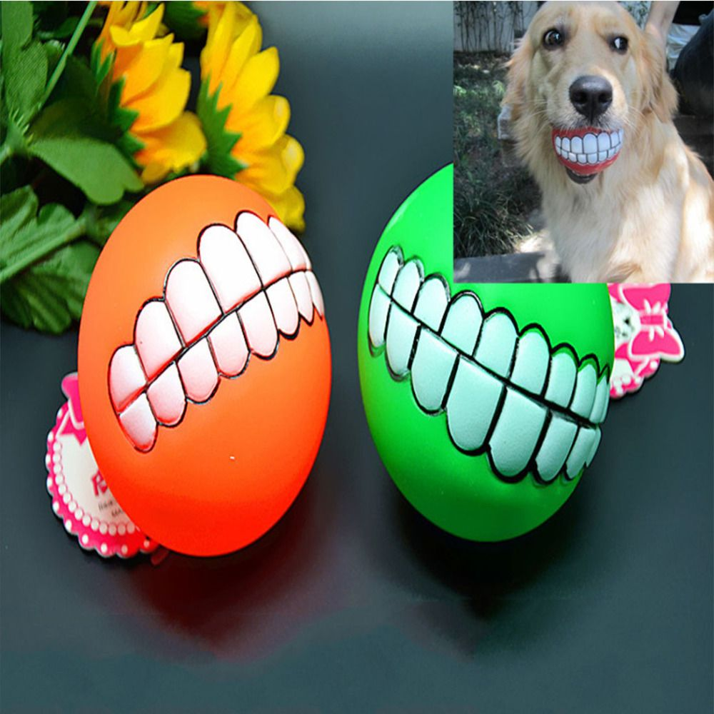 Promotion Pet Dog Ball Teeth Durable Toy Chew Sound Novelty Play