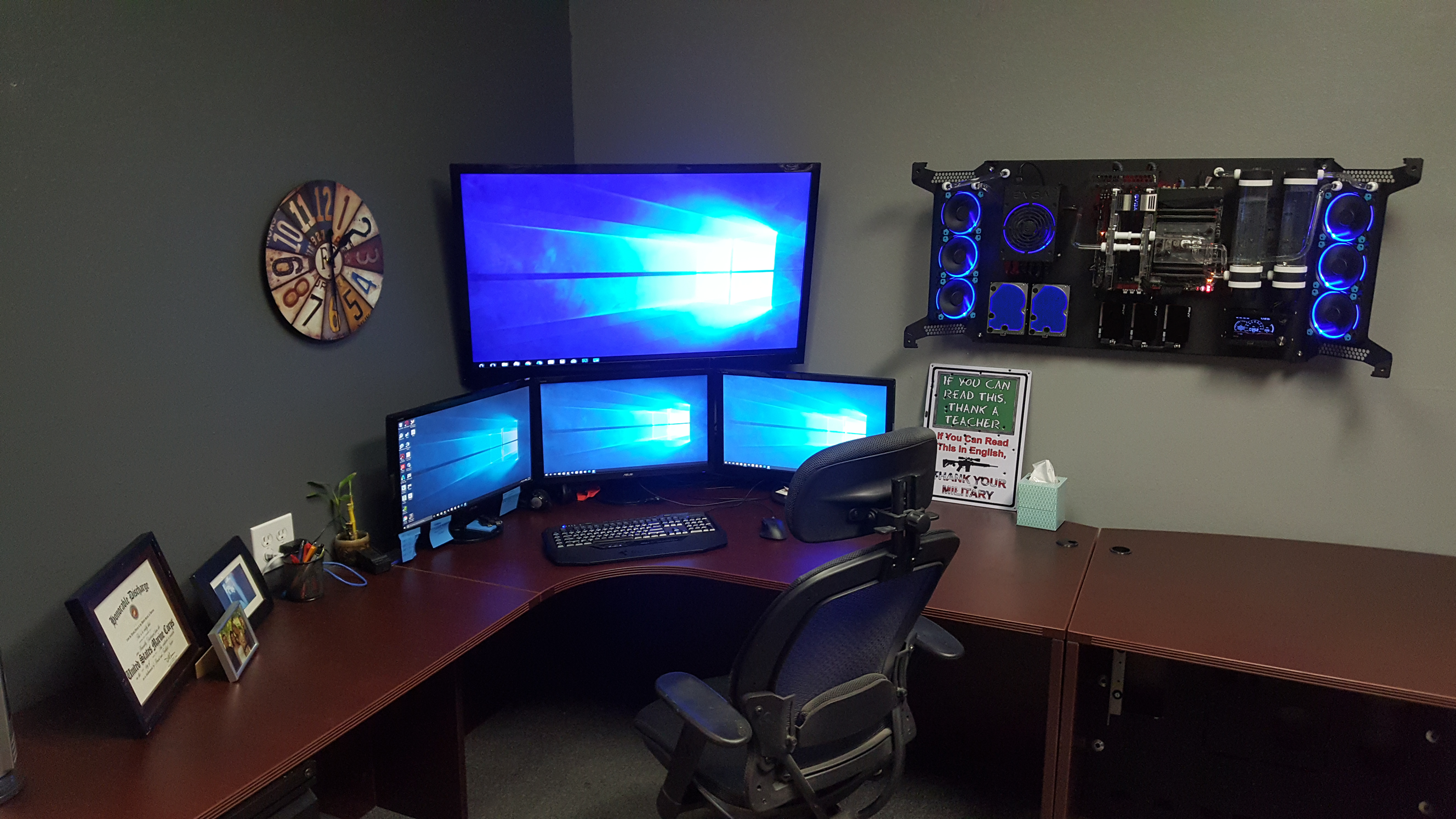 Battle Station Office Go Wall Mounted Pc Wall Mounted