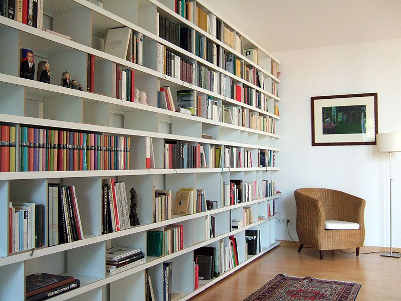 Bücherregal Bücherwand 400*260 | Bücherwand | Pinterest ...