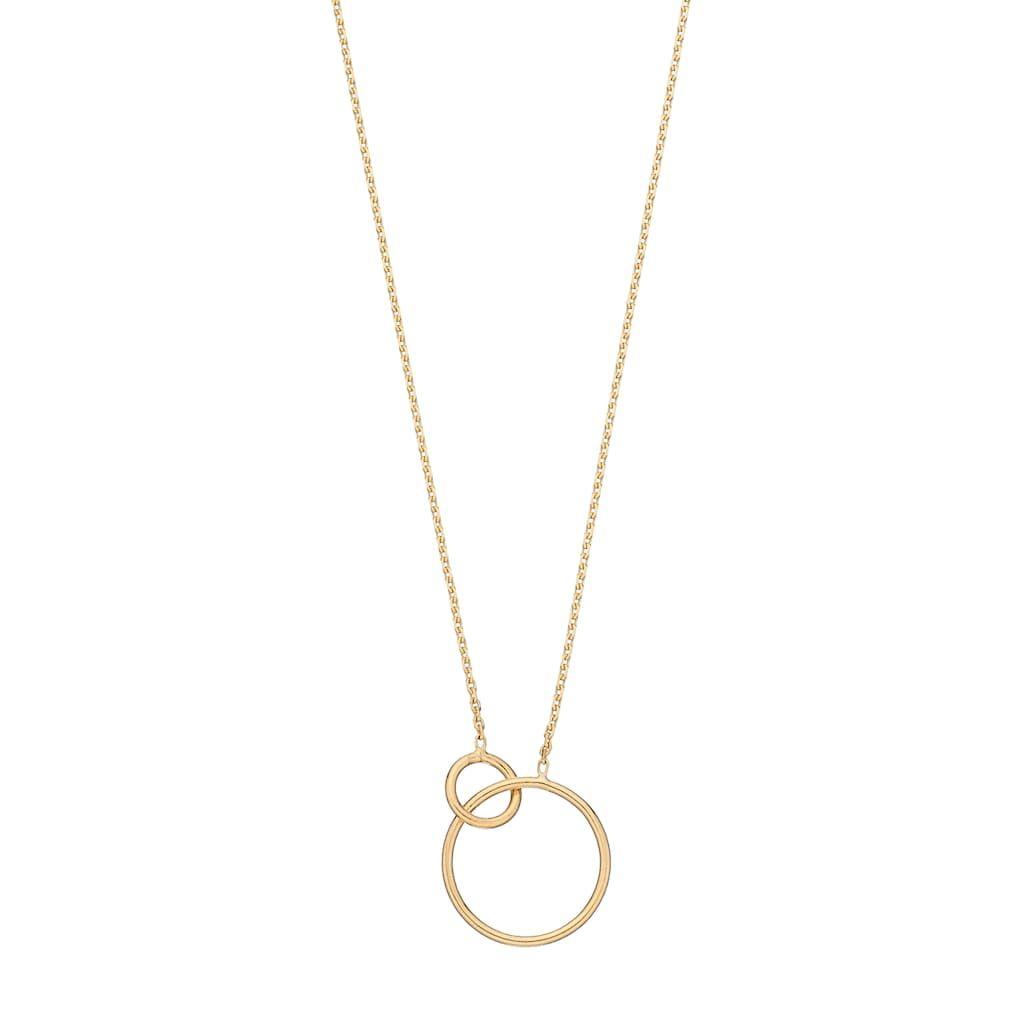 14k Gold Interlock Circle Necklace Circle Necklace Necklace 14k Gold