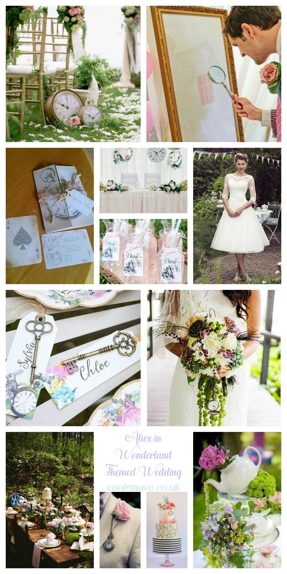Alice In Wonderland Themed Wedding | Mood Board http://confettiave ...