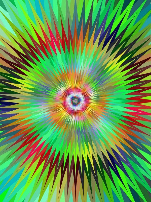 Multicolor star fractal design