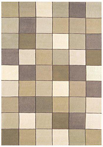 Teppich Wohnzimmer Carpet modernes Design EDEN GEOMETRIE MOSAIK - teppich wohnzimmer beige