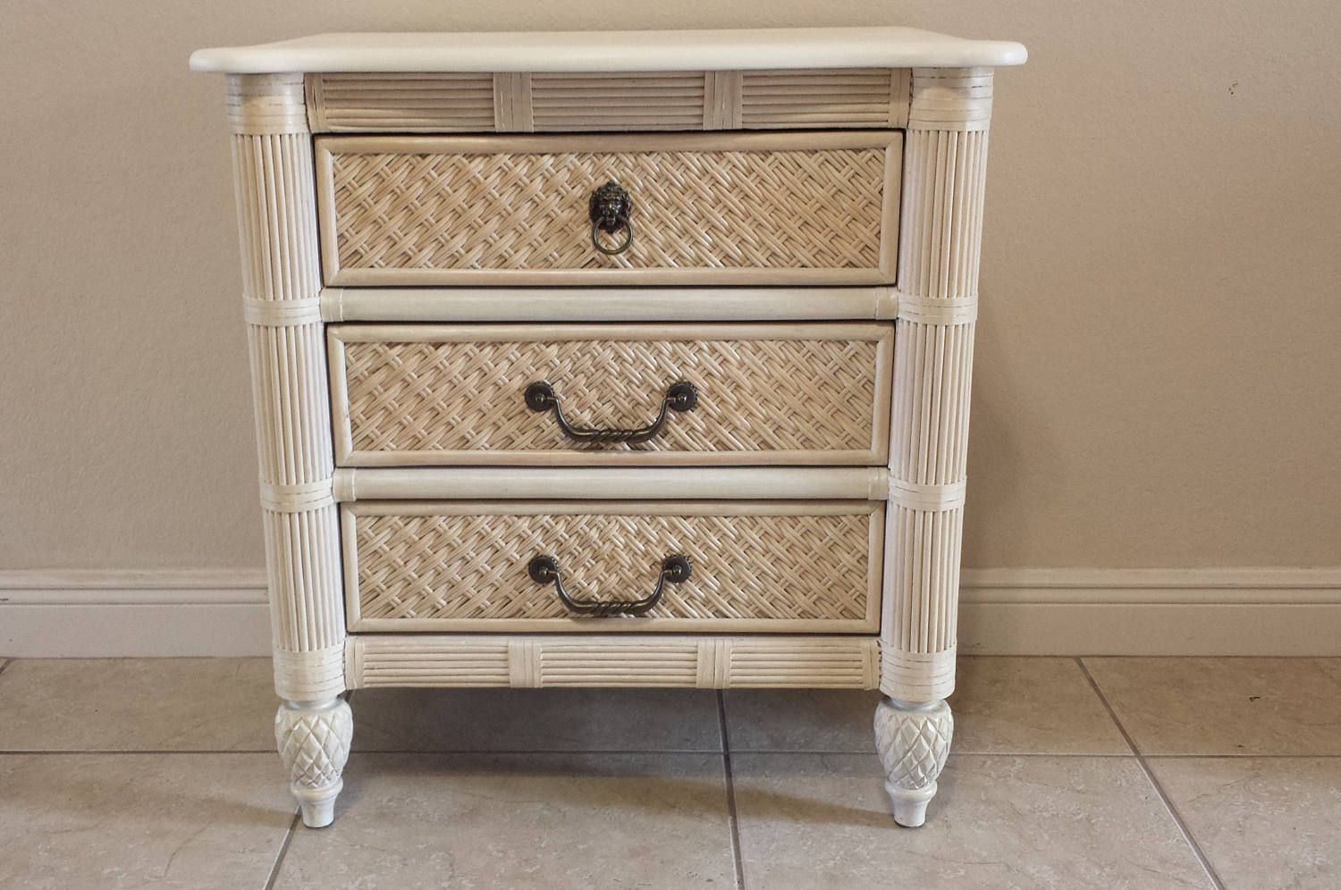 Lexington Wicker 3 Drawers Bachelor Chest Nightstand By Degfurnituredesigns On Etsy