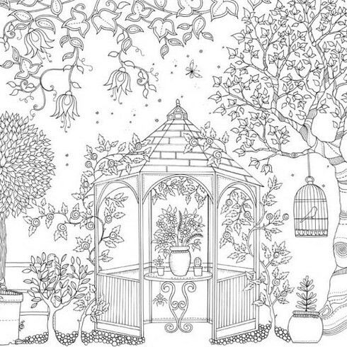 - Pin By Lake Bottorff On Coloring Pages Garden Coloring Pages, Secret  Garden Coloring Book, Coloring Pages For Grown Ups