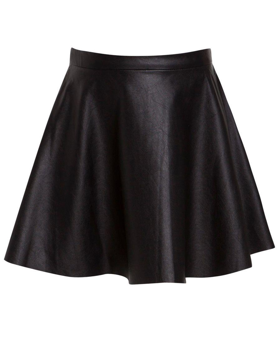 Little Girl S Pu Flip Skirt Bardot Black Skirt For Emma