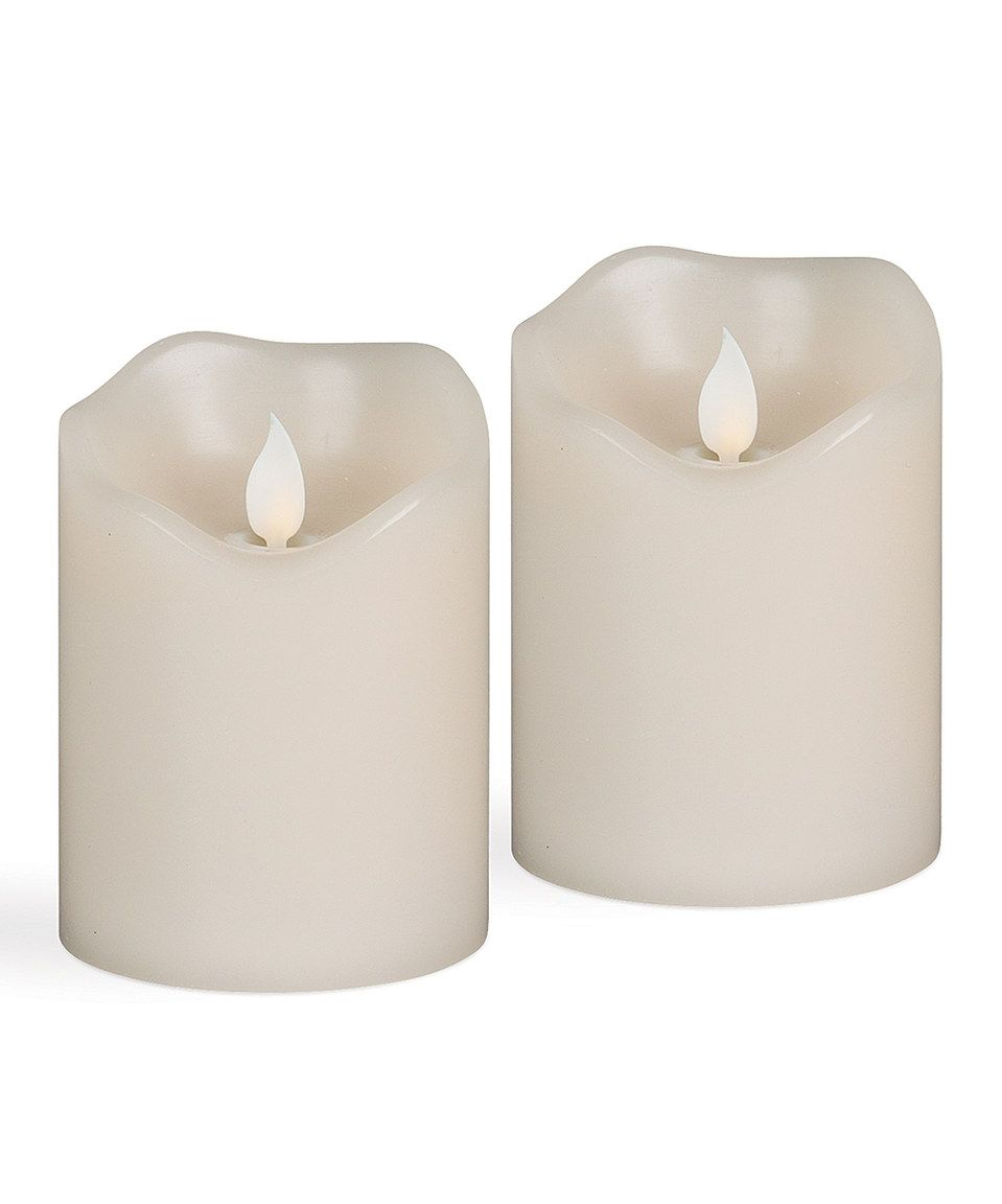 Loving this Wavy Edge SoReal LED Vanilla Candle - Set of Two on #zulily! #zulilyfinds