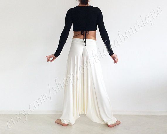 Ivory+jersey+harem+yoga+comfortable+baggy+di+orchideaboutique,+$55.00