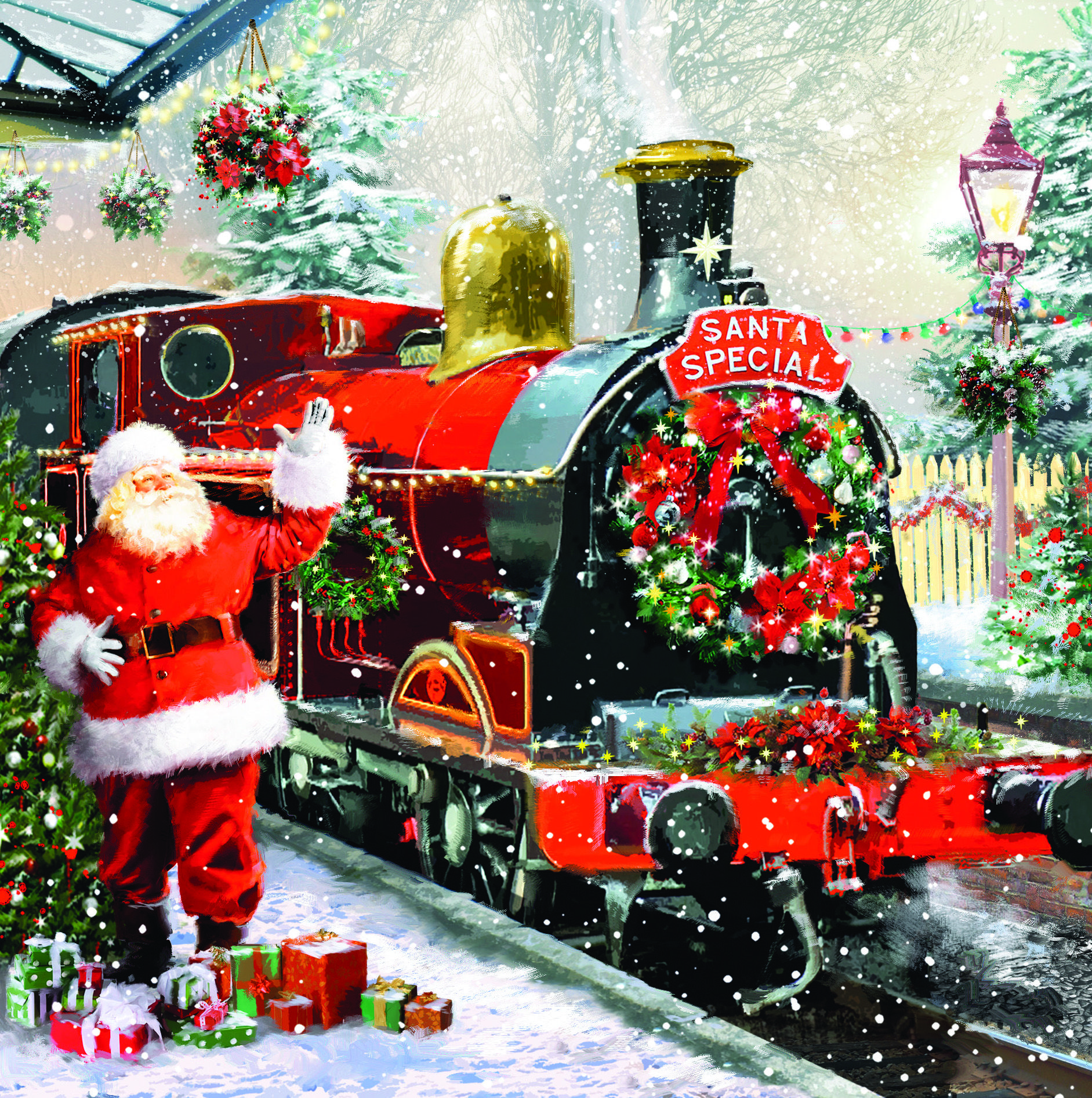Santa Special Charity Christmas Card Charity christmas