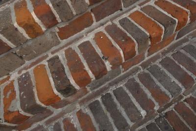 DIY brick steps