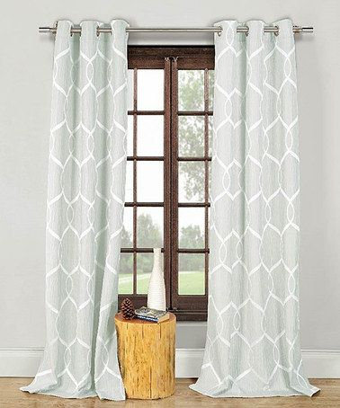 Love This Blue Quey Wave Crinkle Curtain Panel Set Of Two On Zulily Zulilyfinds 25 Each
