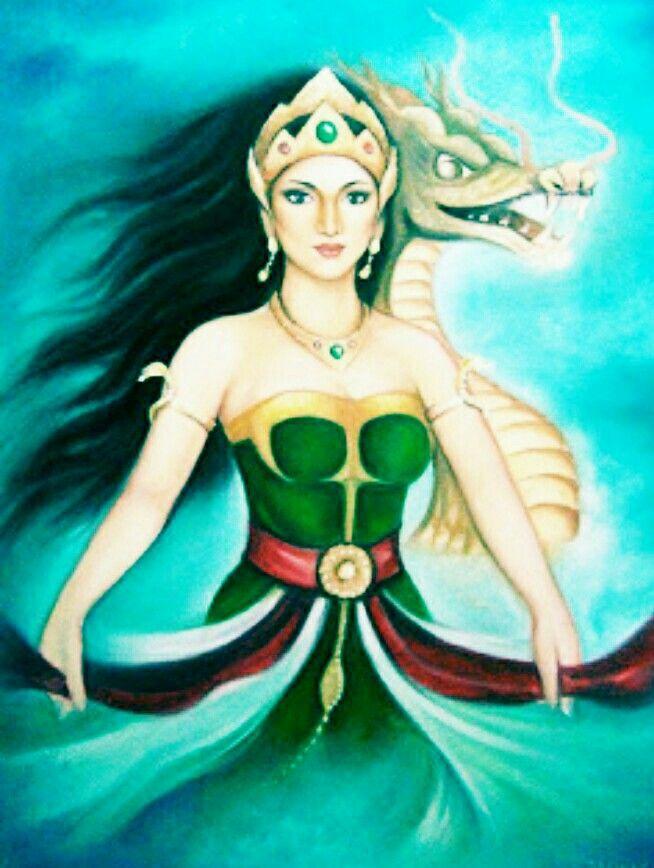 #ilustrasi#Nyi_Roro_Kidul #Roro_Kidul #Ratu_Kidul #Ratu #
