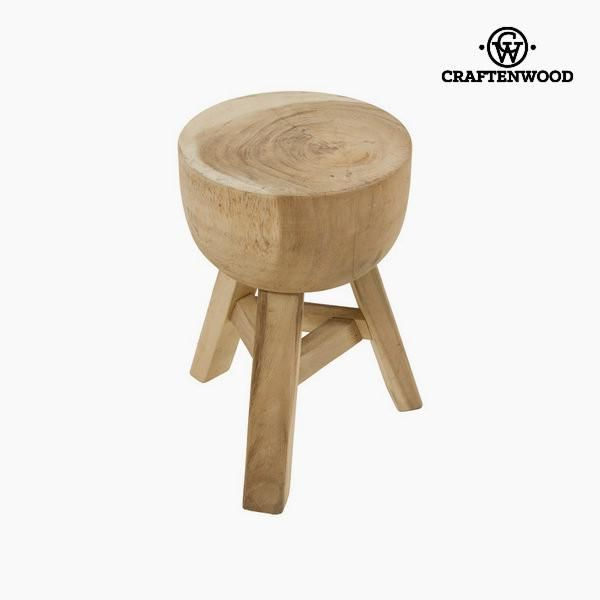 Jaap wooden stool by Craftenwood