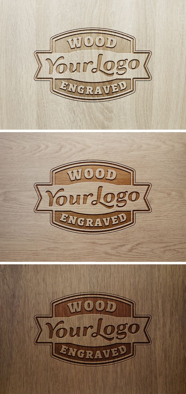 Here S The Frontal View Of The Very Popular Wood Engraved Logo Mock Up Just Replace The Placeholder Logo With Your Own I Logo Mockup Wood Logo Design Logo Psd