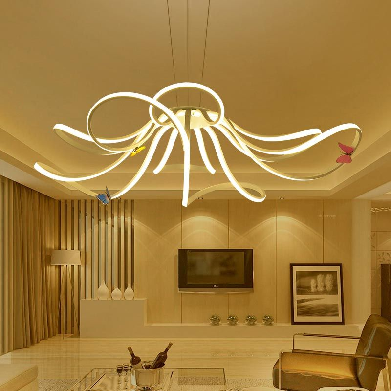 Moderne LED Hanglamp Woonkamer Decor Acryl Dimbare Bloemvorm ...