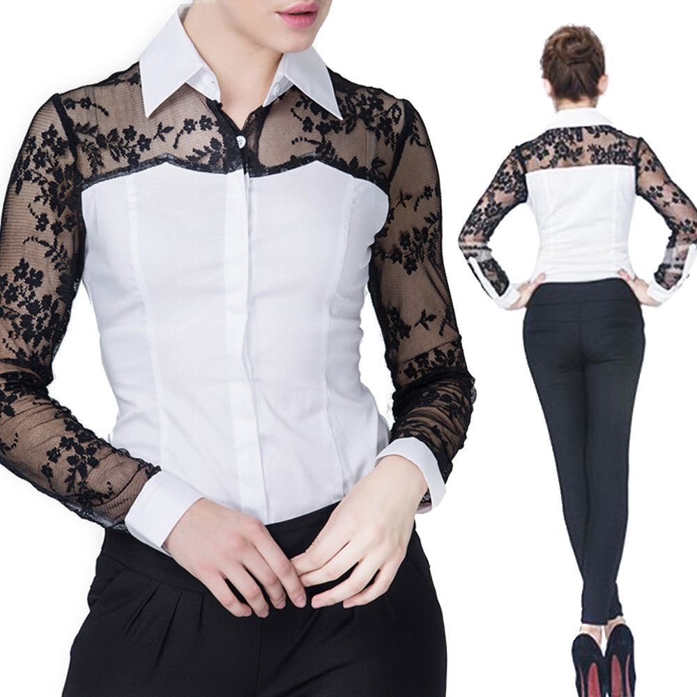 Classics Smart Work Shirt Office School Formal Career Bodysuit Wear Blouse   0d7c0c51b