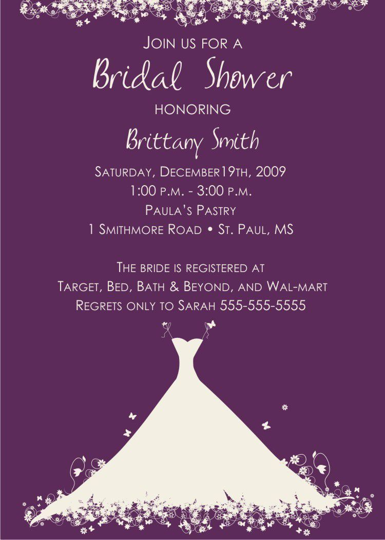 Bridal Shower Invitation Samples Card Invitation Templ Bridal Shower Invitation Wording Wedding Shower Invitation Wording Bridal Shower Invitations Templates