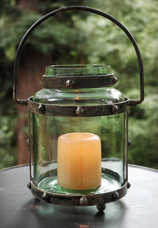 Antique metal lantern