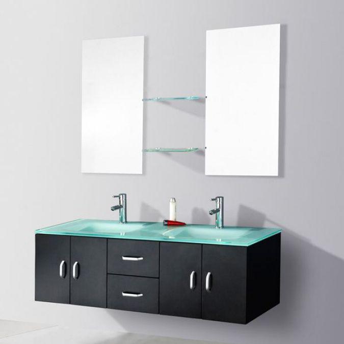 ensemble salle de bain double vasque wengu achat vente salle
