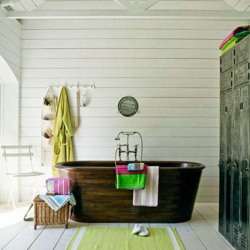 Objetos decorativos para baños   Baños vintage, Baños rústicos