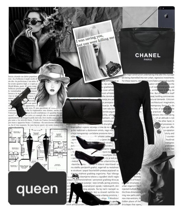"""""""I love my followers"""" by asminn ❤ liked on Polyvore featuring Yves Saint Laurent, Chanel, GE, Oasis, Cushnie Et Ochs and Posh Girl"""