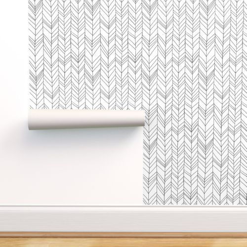 Colorful Fabrics Digitally Printed By Spoonflower Featherland White Gray In 2021 Chevron Wallpaper Self Adhesive Wallpaper Stick On Wallpaper