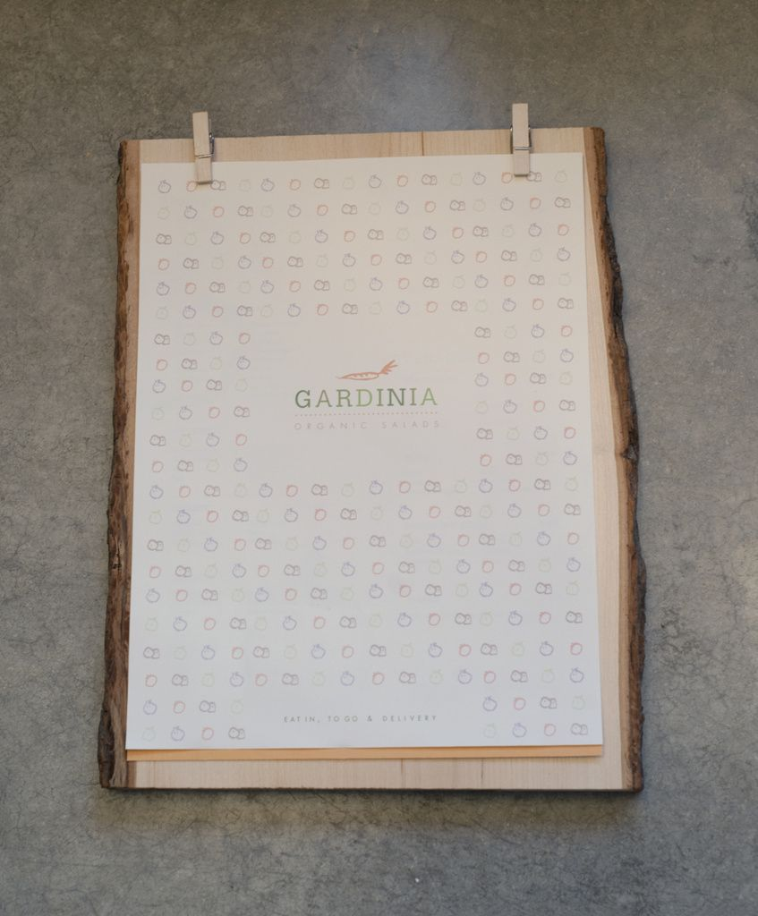 Menu Exterior For Gardenia Salad Bar Concept Restaurant