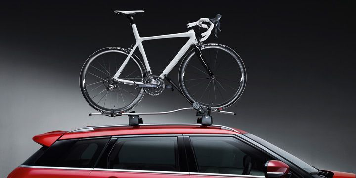 Roof Mounted Bike Carrier Lr006847 188 99 Range Rover Evoque Accessorie From Pure Evoque Parts And Accessories Fo Car Roof Racks Range Rover Evoque Car