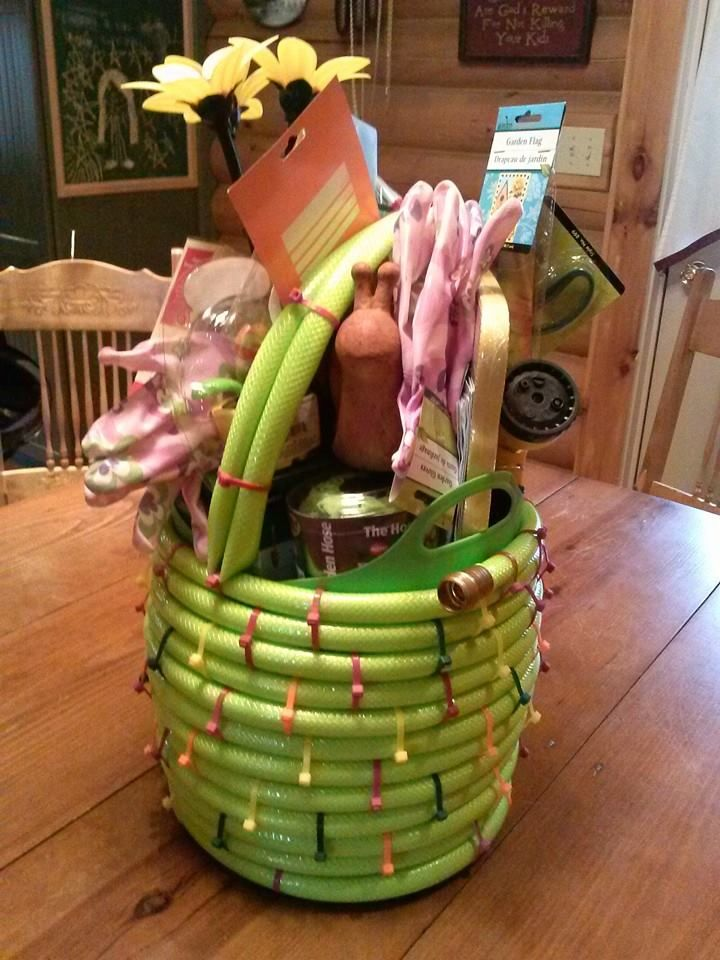 We just finished making this basket for a raffle we will