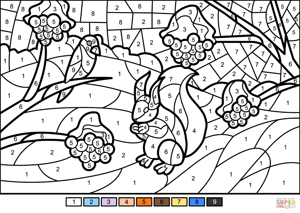 Winter Scene Color By Number Free Printable Coloring Pages Free Printable Coloring Pages Free Printable Coloring Printable Coloring Pages
