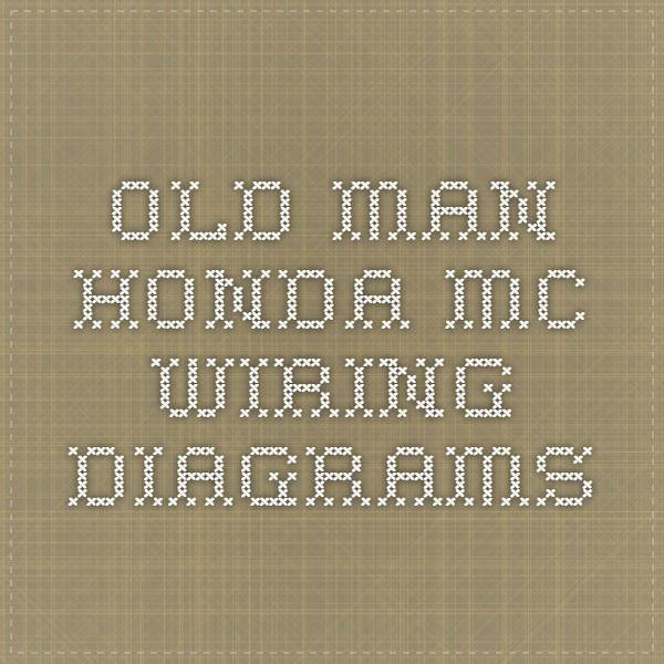 Old Man Honda MC Wiring Diagrams | Automotive and Motorcycle ...