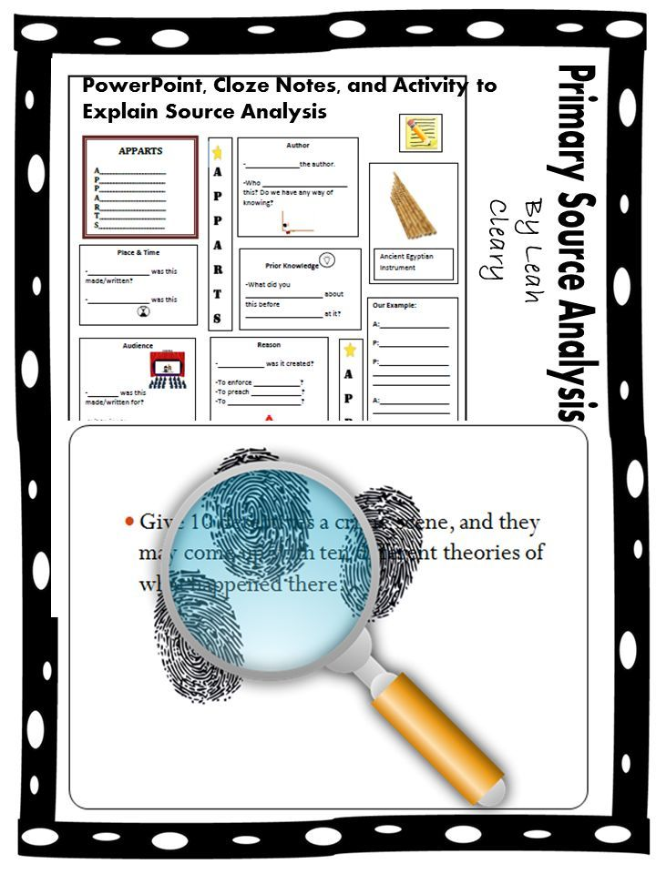 Primary And Secondary Source Analysis Lesson Secondary Source