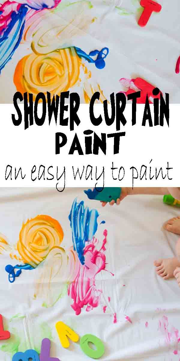 Shower Curtain Paint Preschool Art Activities Fun Activities