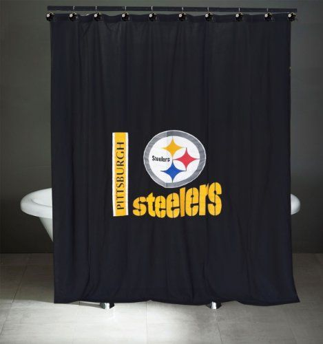Nfl Pittsburgh Steelers Bath Curtain Shower Rings Set Check Out