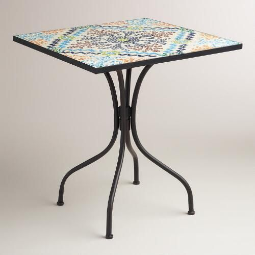 Ideal For Small Spaces, Our Compactly Sized, Exclusive Bistro Table Brings  A Pop Of Color To Your Alfresco Dining Area.