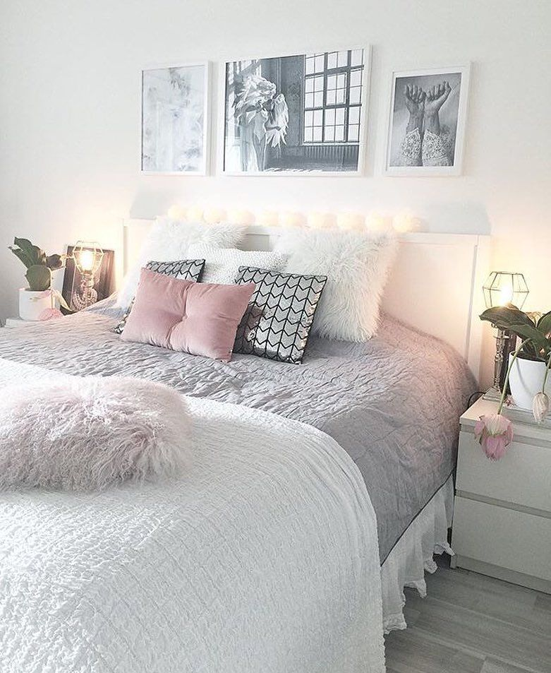 Grey Bedroom Decor Pinterest: Quartos & Decor (@roomforgirl