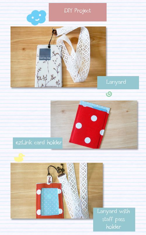 Love Dreams Craft Project No Sew Lanyard And Card Holders Diy Lanyard Card Holder Diy Diy Sewing Projects
