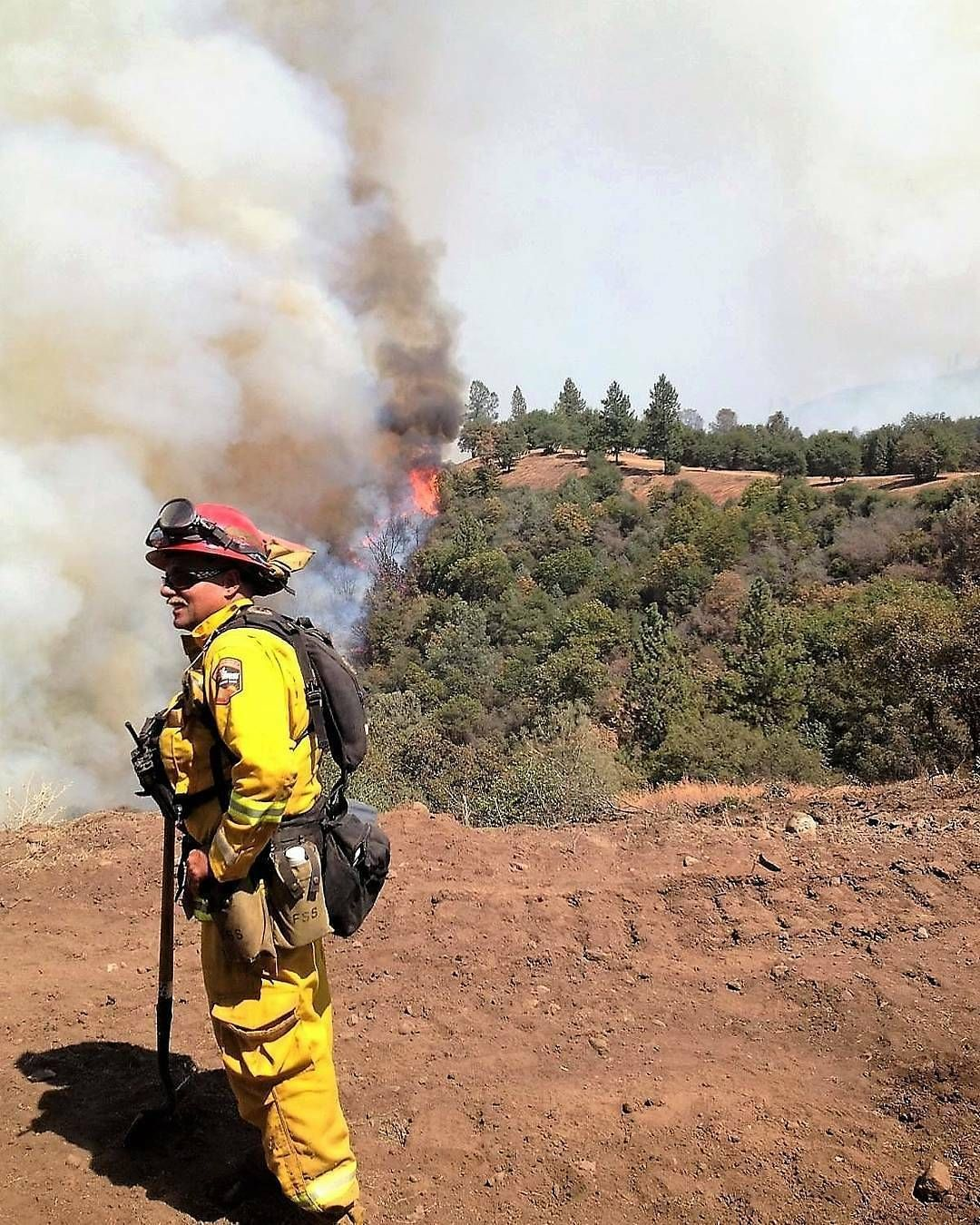 FEATURED POST firebomber68 FBF Me on the Rim Fire near