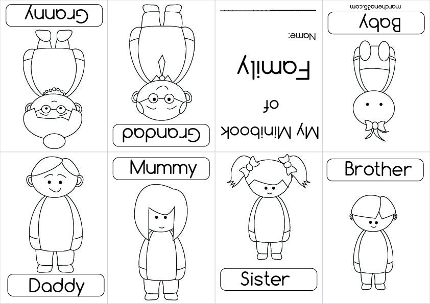 family theme preschool coloring pages - photo#17