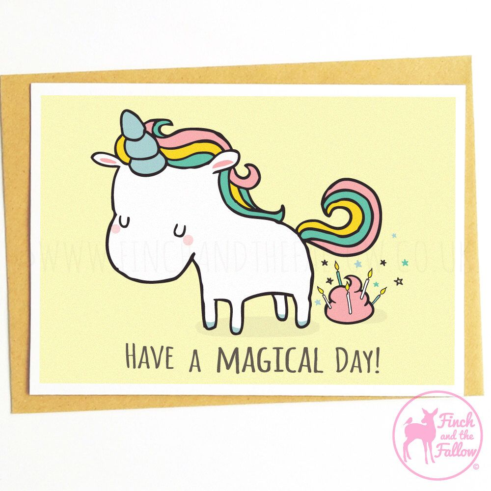 Unicorn card funny birthday card unicorn birthday card have a have a magical day funny unicorn birthday greetings card by finchandthefallow on etsy https kristyandbryce Image collections