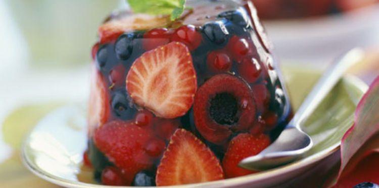 Aspic de fruits au vin de muscat