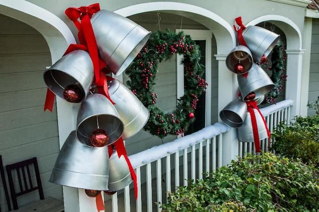 Outdoor Christmas Decor How to make GIANT silver bells for Christmas.