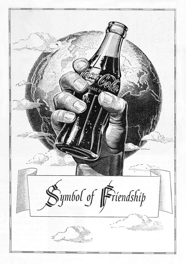 Advertisement For Coca Cola Depicts A Hand Holding A Bottle Of Coca